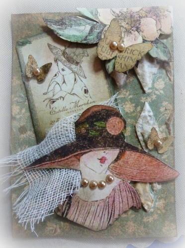 Ladies Diary ATC for Sue RockonFire. **Scraps of Elegance**