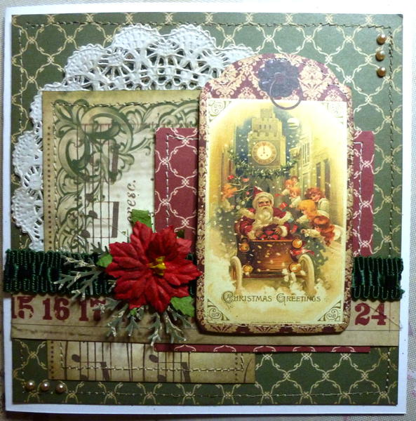 Christmas Greeting **Swirlydoos Card RR**