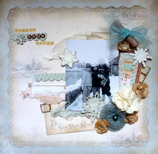 Little Snow Birds **C'est Magnifique December Sketch and kit**