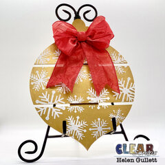 Snowflakes Bulb Ornament Pallet Wood Sign