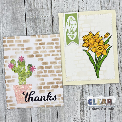 Stenciled Background Two Ways
