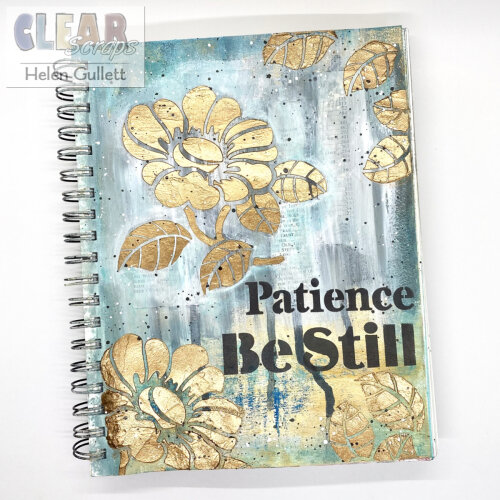 Patience and Be Still Mixed Media Art Journal