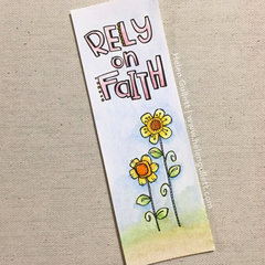 Rely On Faith Watercolored Bookmark