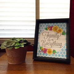 Family Is Everything Framed Artwork