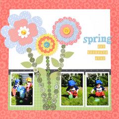 Spring Day Backyard Play
