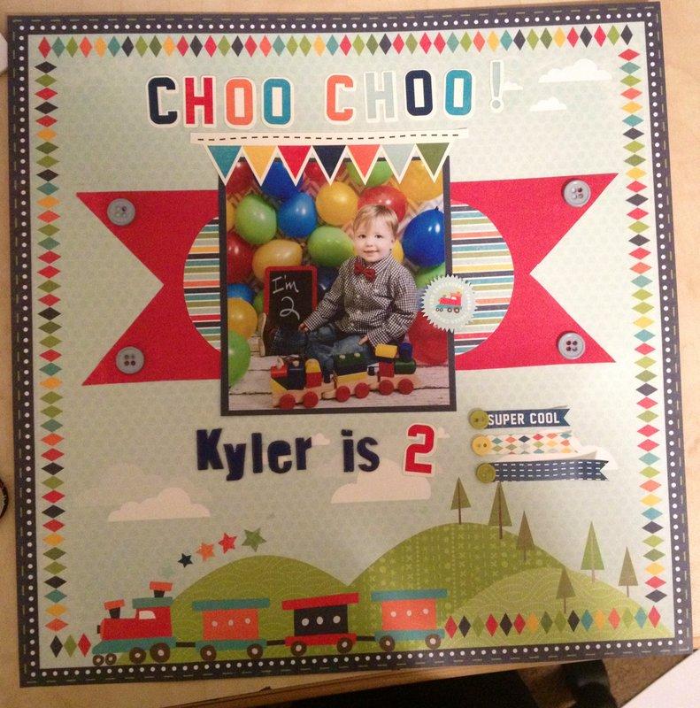 Choo Choo!  Kyler is 2