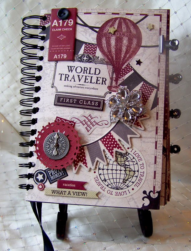 "Carta Bella ""Well Traveled"" Vintage Travel Journal"