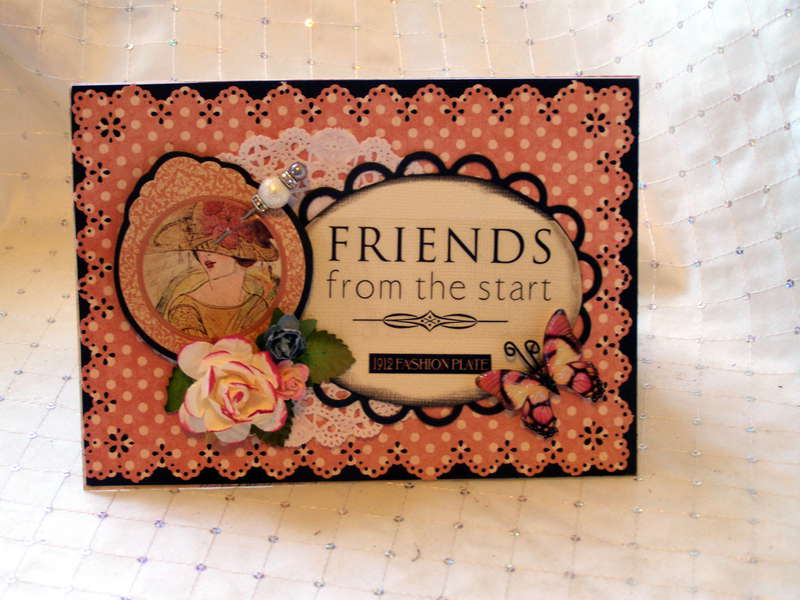 Friends from the start card