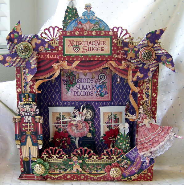 "Graphic 45 Nutcracker Sweet Shadow Box for ""Scraputante"""