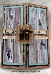 Rustic Gatefold Birthday Card