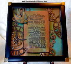 """""""Be an Individual - Be Fearless"""" Shadow Box"""