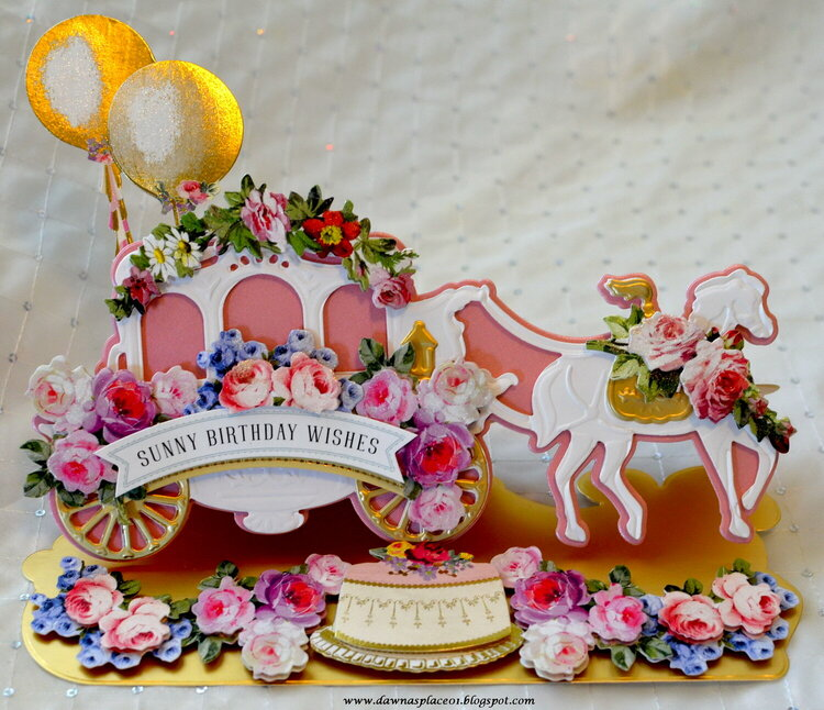 Carriage Easel Card