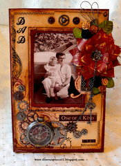 """One of a Kind Dad"" Altered Picture Frame"