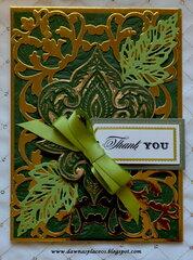 Bohemian Thank You Card