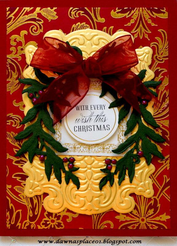 Laurel Leaf Wreath Christmas Card