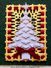 Snowy Christmas Tree Card 2