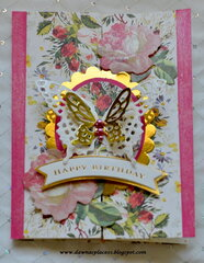 Double Gatefold Birthday Card