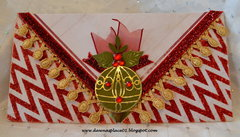 Luxury Envelope with Merry Christmas Tag