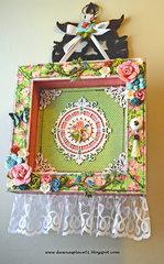 Shabby Chic Clock for Friendship Swap