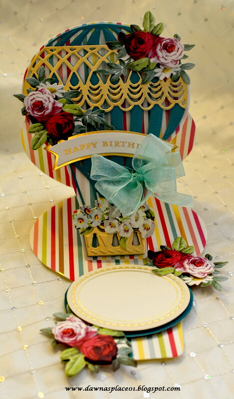 Hot Air Balloon Easel Happy Birthday Card