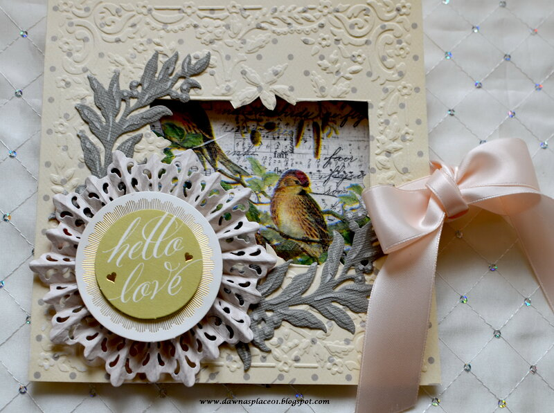 Hello Love Birdy Window Card