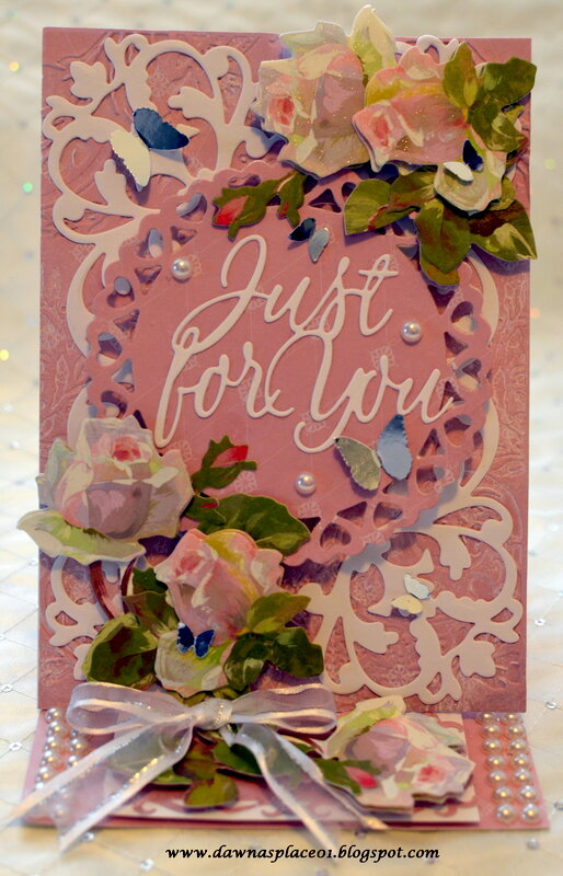 Just For You Easel Wedding Card