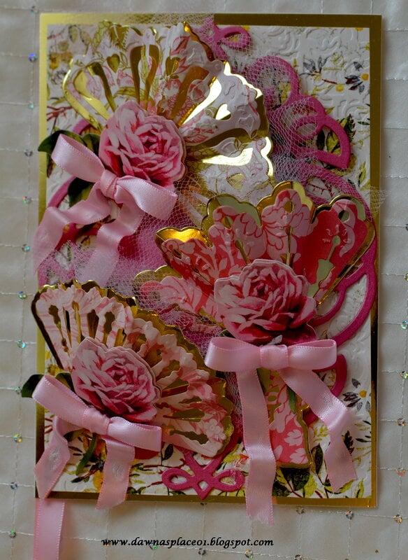Pink Tulle Fan Card