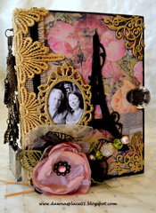 Romantic Vintage Parisian Inspired Envelope Mini Album