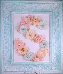 Antiqued Letter Frame