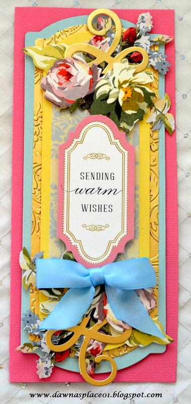 Sending Warm Wishes Slimline Card