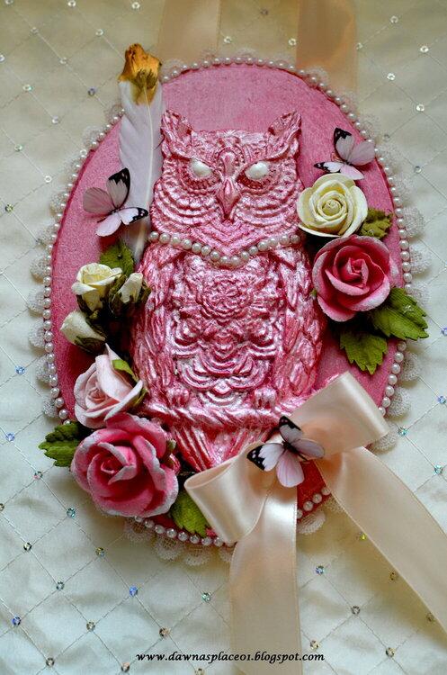 Shabby Owl Plaque