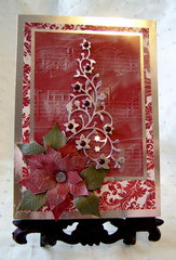 Silver Embossed Musical Christmas Tree Card (Outside)