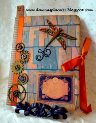 Steampunk Dragonfly Journal