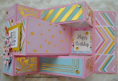 Tri-fold Spring Brithday Card