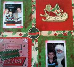 Anna Griffin Christmas Layout