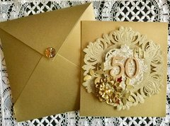 50th Anniversary Card and Envelope
