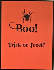 Halloween Spider Card - Inside