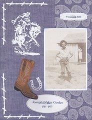 Joe Edgar in Wyoming - 1930