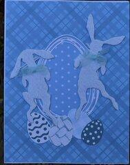 Felt Bunny Easter Cards-Bunny Hop