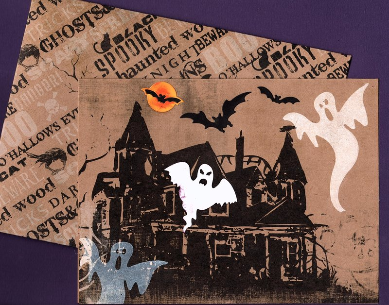 Ghost Card - Front & Envelope
