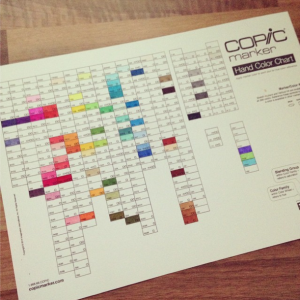 My copic color chart