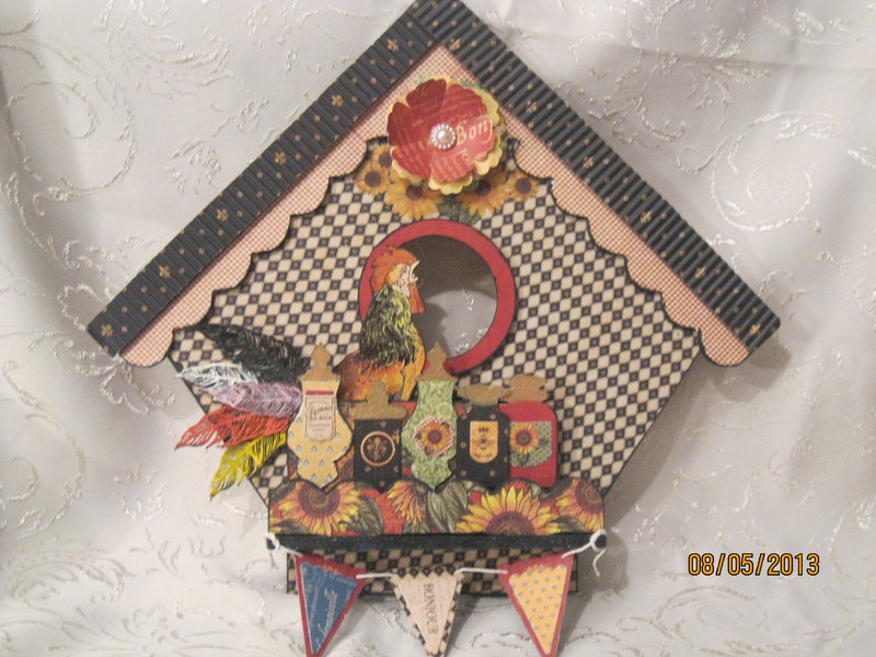 French Country Wall Birdhouse Decor