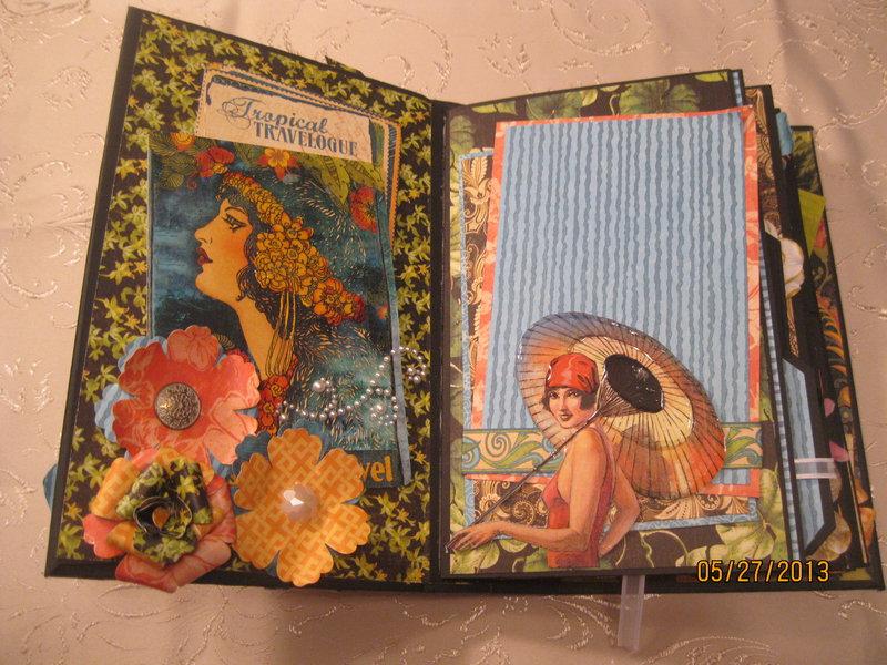 Tropical Mini Album inside page
