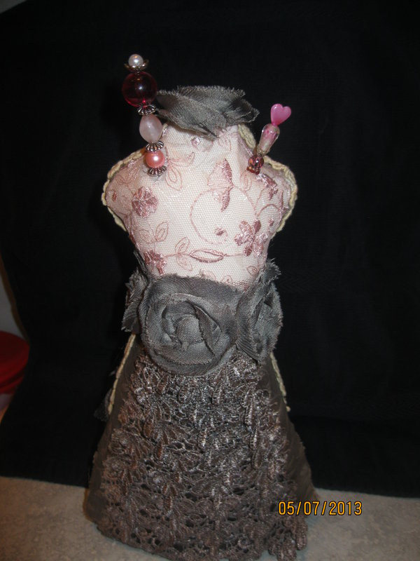 Alltered Dress form pin cushion