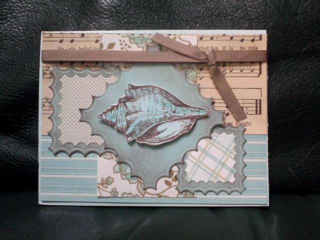Seashell card for Take Ten challenge