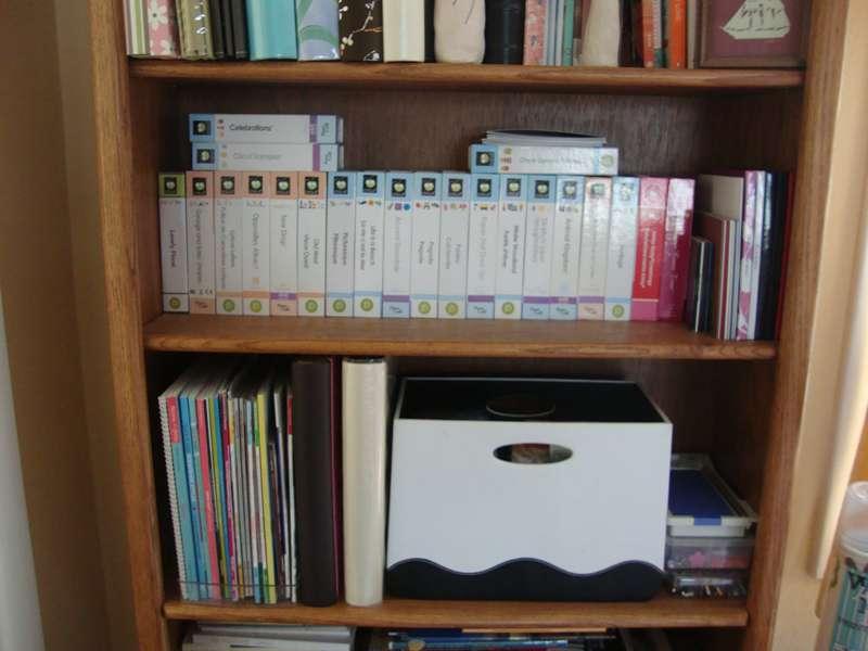 My Cricut shelf and Magazine shelf with sticker overflow