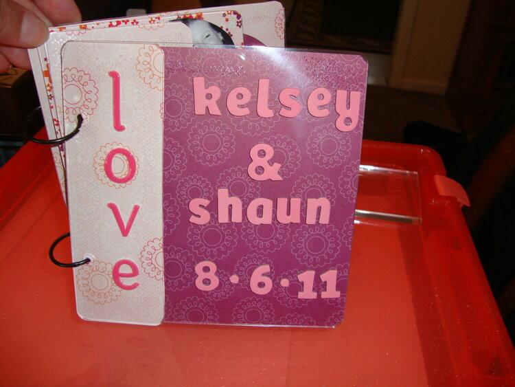 Acrylic wedding album of friend's special day
