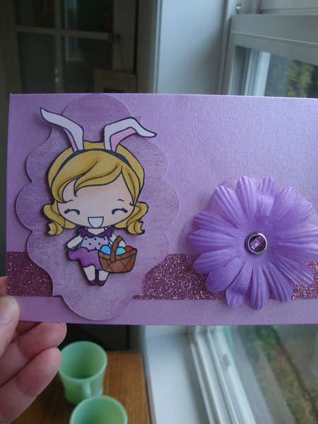 Easter card, greeting farm stamp