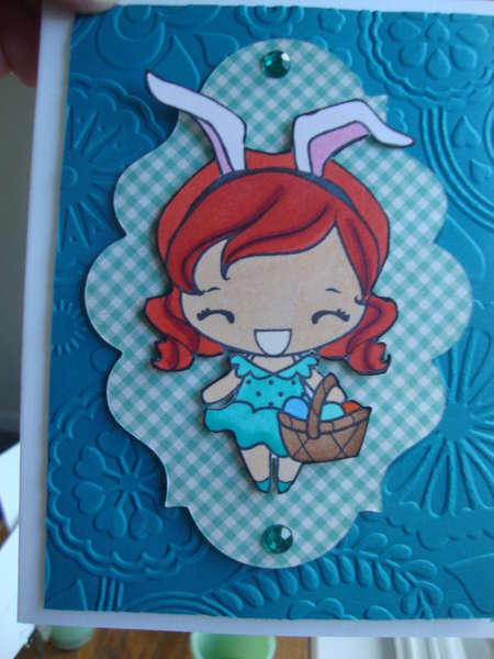 easter card, teal