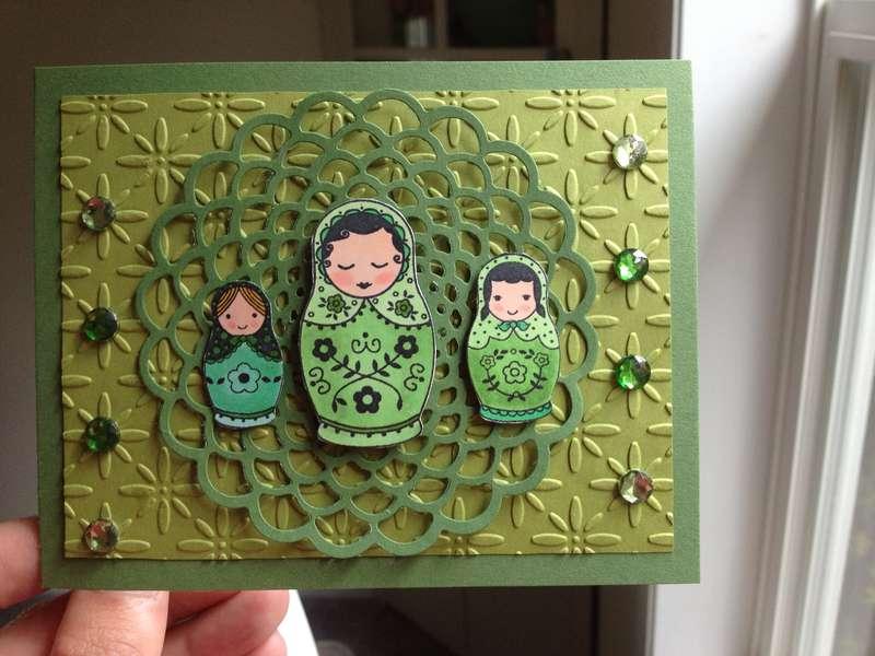 Green Russian Dolls